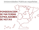 PONDERACION MATERIAS BACHILLERATO PARA UNIVERSIDAD/SIMULADORES